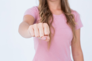 Woman presenting her fist FYI00006464