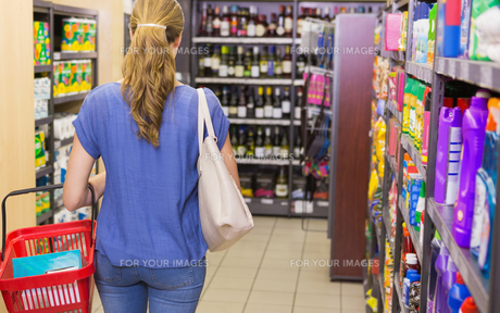 Rear view of woman doing shopping FYI00008867