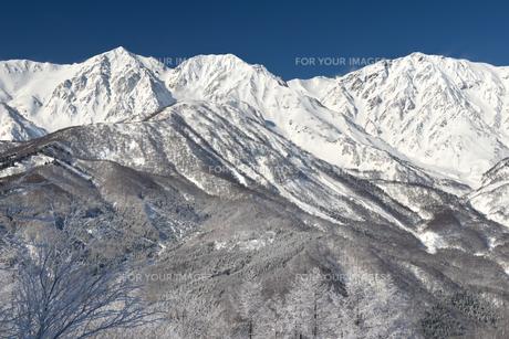 厳冬の白馬三山 FYI00023605