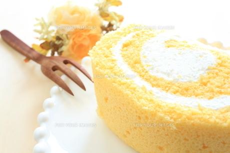 ロールケーキのアップ FYI00031877
