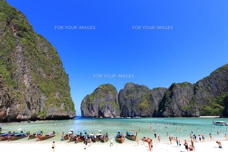 ピピ島マヤ湾のマヤ・ビーチ FYI00034832