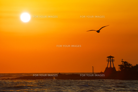能登の夕陽 FYI00056172