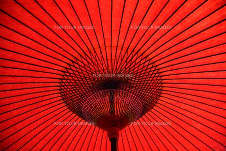赤い和傘 FYI00057483