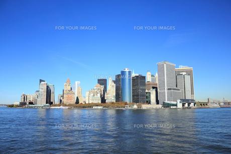 ニューヨーク マンハッタン スカイラインの素材 [FYI00059971]