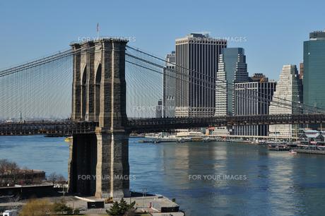 ブルックリンブリッジとロワー マンハッタンの素材 [FYI00060245]
