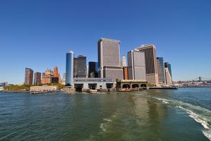 マンハッタン南端、高層ビル群の素材 [FYI00060303]