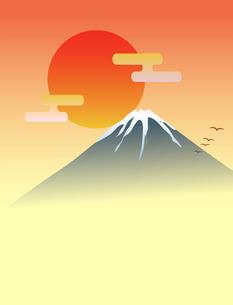 富士山と日の出 FYI00075476
