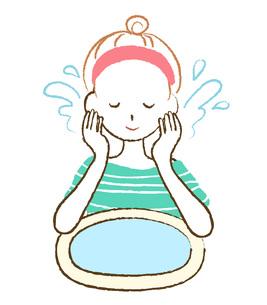 洗顔する女性 FYI00075879
