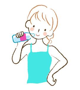 水を飲む女性 FYI00075884