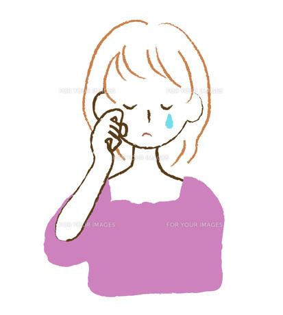 泣く女性 FYI00075911