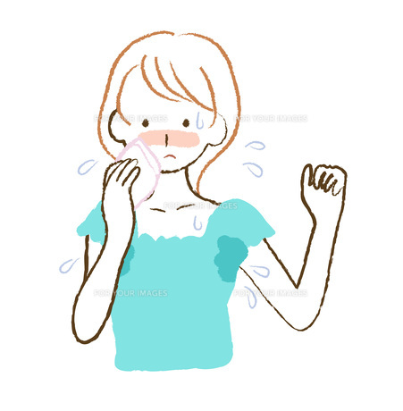 汗かきの女性 FYI00076224