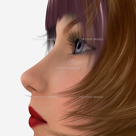 女性の顔アップ FYI00087169