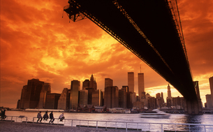 ブルックリンより望むワールドトレードセンター FYI00088459