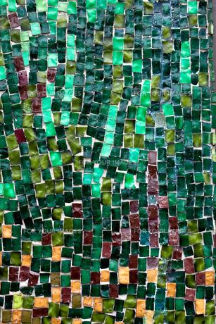グリーンのモザイクタイル素材 FYI00093172