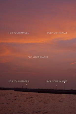江ノ島の夕焼 FYI00108875