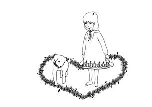 女の子と犬 FYI00110550