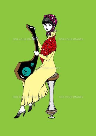 演奏する女 カラー FYI00110563