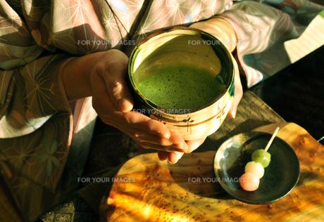 抹茶と女性-2 FYI00114353