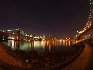 ブルックリンブリッジとマンハッタンブリッジ FYI00124679