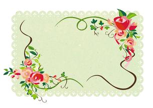 花のフレーム FYI00125929