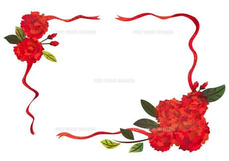 花のフレーム FYI00125934