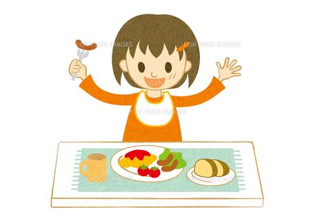 食事をする子供の素材 [FYI00125952]