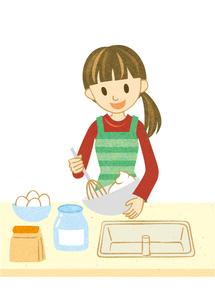 お菓子を作る女性 FYI00125974