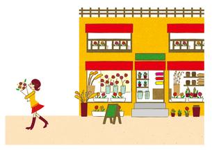 花屋で買い物する女性 FYI00125993