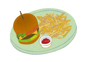 ハンバーガーとポテト FYI00126008