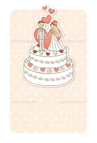 ウエディングケーキの上のカップル FYI00126038
