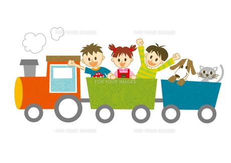 汽車に乗って騒ぐ子供たちの素材 [FYI00126051]