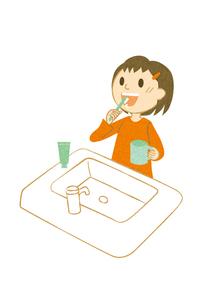 歯を磨く子供の素材 [FYI00126056]
