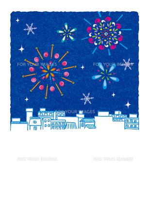 花火があがる夏の夜空 FYI00126057