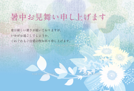 暑中見舞い「ひまわり」2 FYI00126062