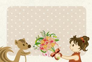女の子とリス FYI00126063
