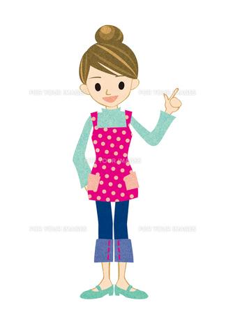 指をさす若い主婦 FYI00126064