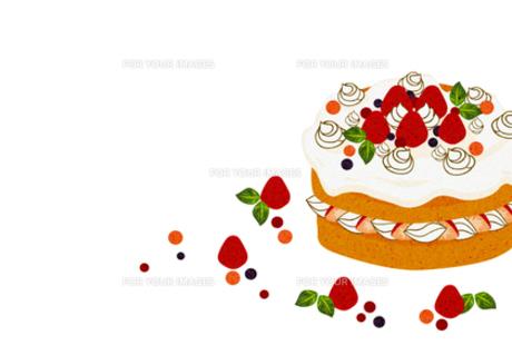 イチゴのホールケーキ FYI00126079