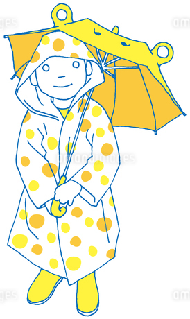 雨の日の子供 FYI00133929