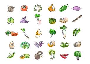 野菜?30種の素材 [FYI00136102]