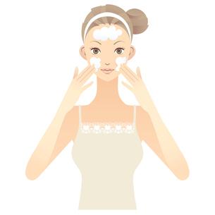 女性 スキンケア イラスト FYI00136217