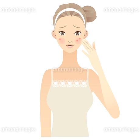 女性 顔 イラスト FYI00136224