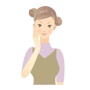 女性 顔 イラスト FYI00136231