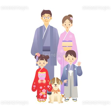 家族 正月 和服 Fyi00136235 気軽に使える写真イラスト素材