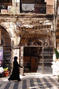 ダマスカス旧市街の中庭で。 FYI00136388