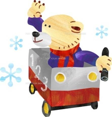 乗り物に乗って遊ぶクマくん FYI00146567