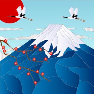 富士山と初日の出 FYI00157431