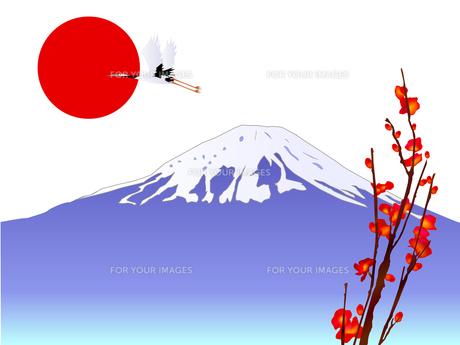 富士山と初日の出 FYI00157482
