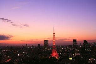 夕焼けと東京タワー FYI00165765
