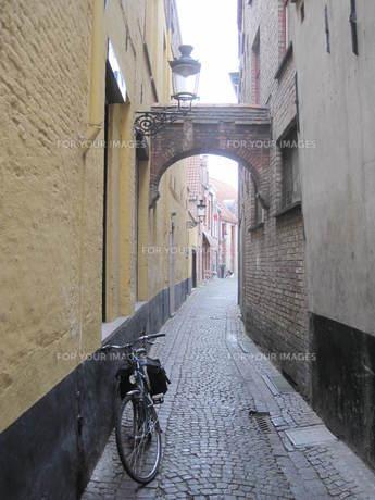 ベルギー中世ヨーロッパの街並み Fyi00180789 気軽に使える写真