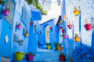 モロッコ シャウエンの街並み FYI00180974
